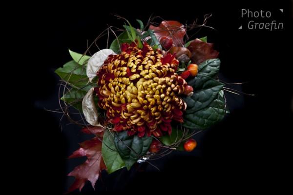 Apfel-Blumen-Gruß