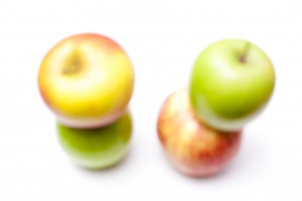 farbenfrohe Äpfel