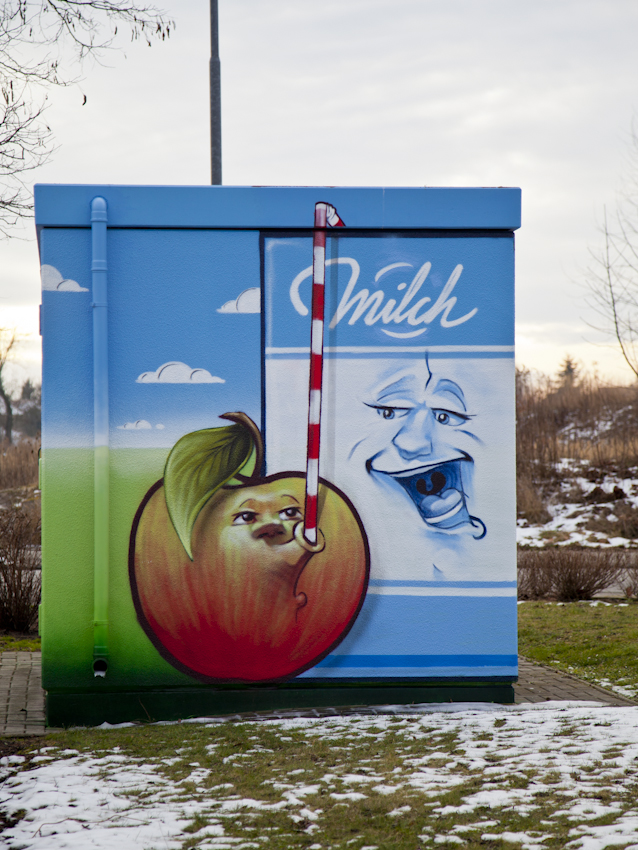 #anappleaday – 01.02.2014 – Apfel trinkt Milch